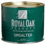 Royal Oak Gourmet Unsalted Virginia Peanuts, 40-Ounce Tins (Pack of 2)