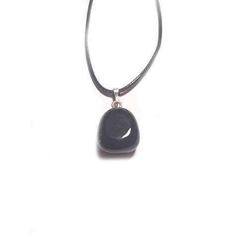 Desconocido Colgante Onix Onice Piedra Rodado Natural 2x1,5 cm para Hombre/Mujer
