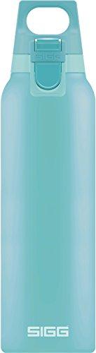 SIGG Hot und Cold ONE Glacier Thermo Trinkflasche (0.5 L), schadstofffreie und isolierte Trinkflasche, einhändig bedienbare Thermo-Flasche aus Edelstahl