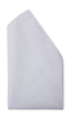 Fabio Farini - Edle unifarbene Einstecktücher passend zur Hochzeit, Rundem Geburtstag oder schlicht im Büro weiß