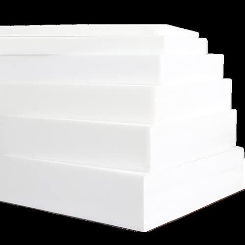 MOTT Mousse de rechange haute densité pour rembourrage de canapé, 80/100/120/150/180 cm de long, rembourrage en mousse pour chaise, banc, tabouret, facile à couper