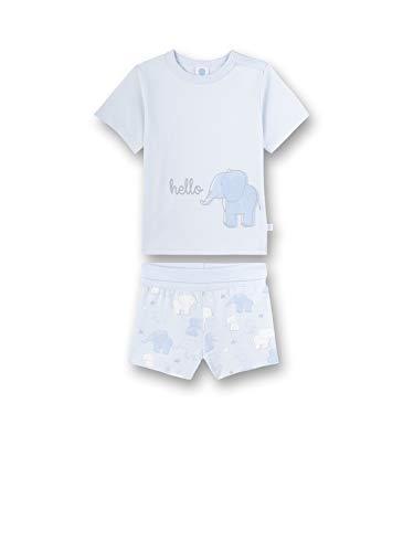 Sanetta Baby-Jungen Pyjama kurz Zweiteiliger Schlafanzug, Blau (blau 50308), 74 (Herstellergröße:074)