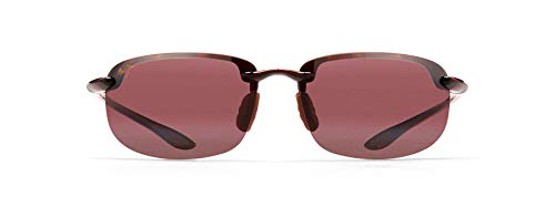 Maui Jim Ho'okipa Rectangular Sunglasses, Tortoise/Maui Rose Polarized, Medium