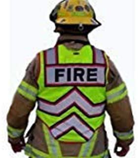 FIRE NINJA FIRE VEST-Class 2 Reflective - High Visibility Public Safety Vest - Bright Neon Reflective Colors - Double Breakaway Zipper - For Fire and Public Saftey Departments (3XL, RED)