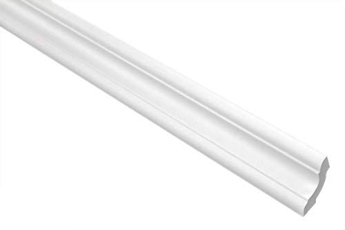 Zierleisten Sparpaket E-24 | leicht und stabil | extrudiertes Styropor | Stuckprofile | Decken-/ und Wandübergang | modern weiß | dekorativ | XPS | 29 x 29 mm | 100 Meter