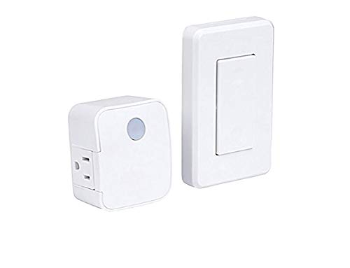 WESTEK Indoor Wireless Light Switch, 2 Pack – No Wiring Required, Up To 100ft Distance – The Easy Way to Add a Switched Outlet, Ideal for Lamps, Seasonal Lighting, Small Appliances – White