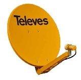Televes 7902 - Antena parabolica Off-Set Aluminio Disco 850 Naranja