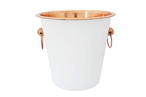 White-Copper Seau A Vin D21xh21cmwhite Outside - Copper Inside