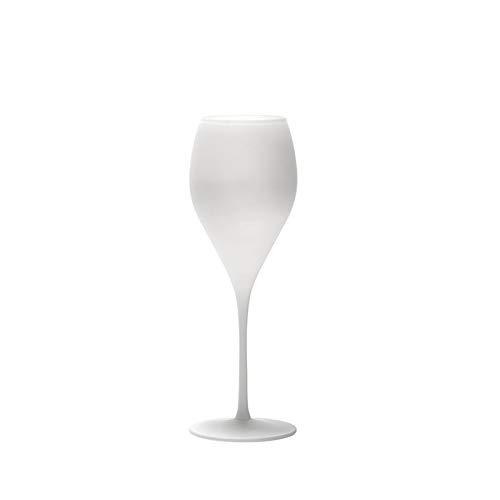Stölzle Lausitz Champagnerkelch Viena weiß matt 210 ml, 6er Set Champagnergläser, bleifreies Kristallglas, hochwertige Qualität, Elegante Champagnerkelche