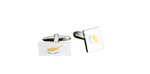 Flaggenfritze® Manschettenknöpfe Fahne / Flagge Zypern