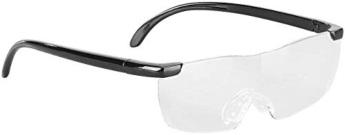 PEARL Vergrößerungsbrille: Randlose Vergrößerungs-Brille, 1,6-fach, mit Schutz-Tasche (Randlose Vergrößerungsbrille)