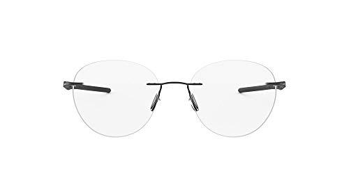 Oakley Men's OX5143 Drill Press Titanium Prescription Eyeglass Frames, Satin Black/Demo Lens, 51 mm