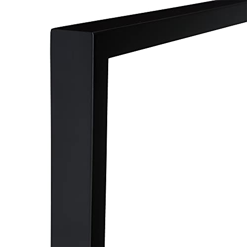 Ambiance Gallery Wood Picture Frame for Stretched Canvas, Artist Panels and Art Boards [Single Frame] 9x12' - Black