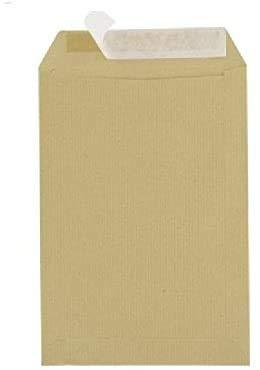 Sobres 50 C5 162 x 229 mm ventana sin papel Kraft cierre 90 g Brown con cinta adhesiva sensible a la presión