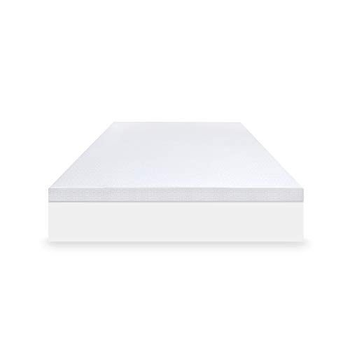 SensorPEDIC SensorCOOL 4-Inch Elite Cooling Mattress Topper, Queen, White