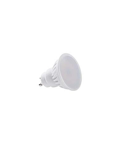 Lampadina Led 9W in ceramica Milky cover GU10 Kanlux TEDI MAXX LED GU10-CW Cod. 23413 - Bianco Freddo 6000K