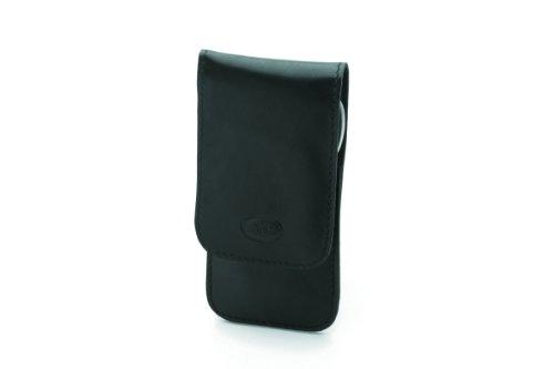 Pfeilring Taschenetui, Nappaleder, 3-teilig, Inox-Füllung, schwarz