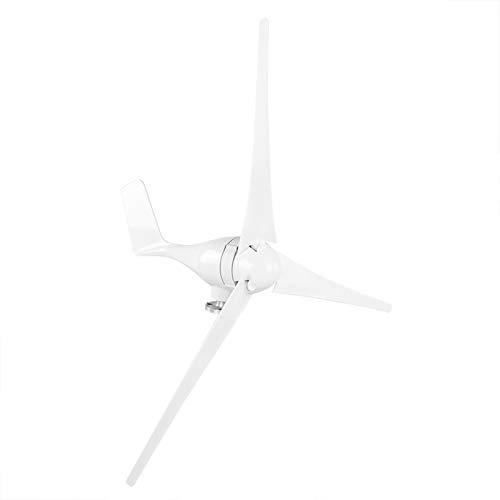 Generador de aerogeneradores 1200W -40 ℃ -80 ℃ Kit de aerogeneradores Molino de viento para el hogar(white, 12V)