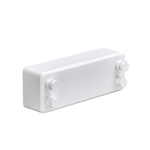 N / A Tendedero Retráctil Ajustable de 4.2M de Acero Inoxidable para Interiores y Exteriores, para Secar La Ropa, Carga Máxima de 20kg (Blanco#1, 240 * 87 * 56mm)