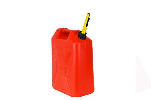 Scepter FG4RVG5 Military Style 5.3 Gallon Gas Can, Jerry Can Fuel Container with Self-Venting Spout, Red