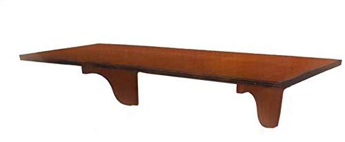 Vetrineinrete® Mensola in Legno a Parete Stile Country pensile scaffale Vintage 75x20 cm Vari Colori (Marrone Chiaro) A122