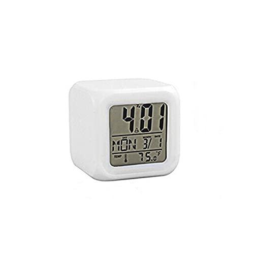 Despertador Reloj Despertador Led Multifuncional Hogar Dormitorio Niños Cambio Led Brillante Hogar Relojes Portátiles Accesorios para El Hogar