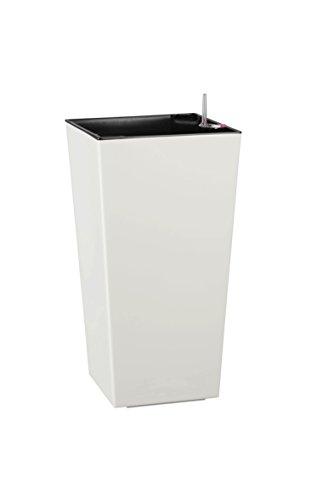 Dehner Kunststofftopf Elise mit Selbstbewässerungs-System, Weiß (White), ca. 25 x 47 x25 cm