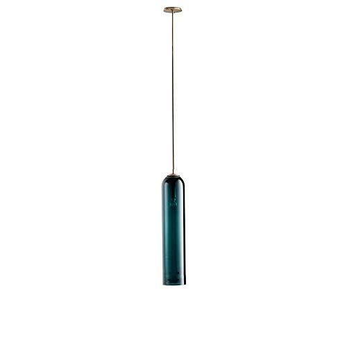 Lámpara de araña de vidrio para bricolaje, dormitorio nórdico, mesita de noche, lámpara colgante de techo de una sola cabeza con base de lámpara E27,pantalla de vidrio verde oscuro lámpara colgante