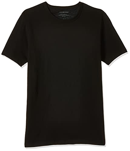 Jack & Jones Jacbasic Crew Neck tee SS 2 Pack Camiseta, Negro (Black Black), Medium (Pack de 2) para Hombre