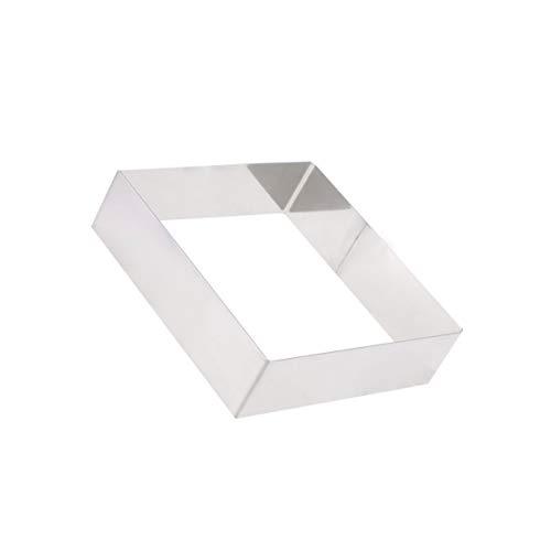 Hemoton Tiramisu Backform für Mousse Ring Edelstahl Kuchen Ring Gebäck Ring Kreis Form zum Backen Schneiden Kuchen Keks (Silber 10 Zoll)