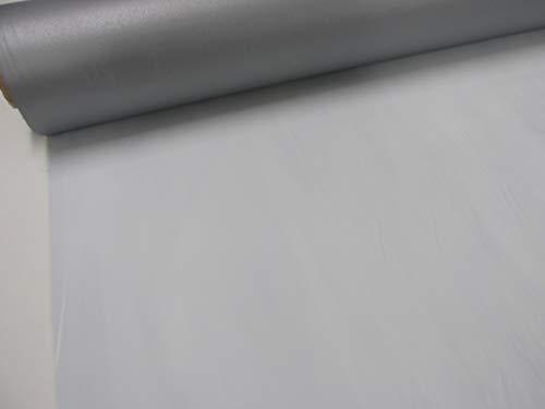 Confección Saymi Metraje 2,50 MTS. Tejido foscur ocultante, Color Blanco Roto y Gris Plata Reverso, con Ancho 1,40 MTS.