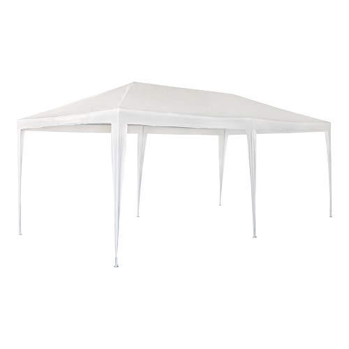 Aktive Garden 53992 - Cenador de Plástico Blanco 300 x 600 x 255 cm con Tubos de Acero