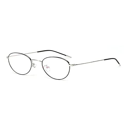 CloverGorge Gafas Planas con Montura Redonda de Metal Vintage con Montura Grande, protección UV a Prueba de Viento, diseño de Moda, Gafas para decoración de Ojos, Gafas