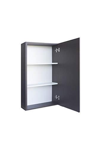 MuebleCasa Badezimmerschrank mit 2 verstellbaren Einlegeböden zum Aufhängen, Holz, Höhe 83 cm x Breite 30 cm x Tiefe 17 cm, Schokoladenbraun