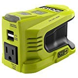 RYOBI 150-Watt Powered Inverter Generator, with 2 USB Ports and One 120-Volt Outlet,...