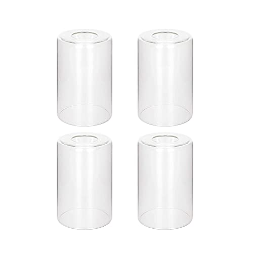 4 Pack Clear Glass Shade Covers Replacements, 5.5in Height,...