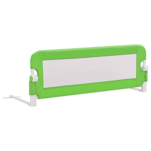 vidaXL Barrière de Sécurité de Lit Enfant Rail de Lit Pliable Barrière de Protection Bébé Chambre à Coucher Gris 120x42 cm Polyester