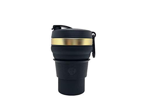 TRONCOs MUG one - BLACK EDITION - Der faltbare Kaffeebecher / Mehrwegbecher / schwarz / to-go Becher / Cup / wiederverwendbar / faltbar / collapsible