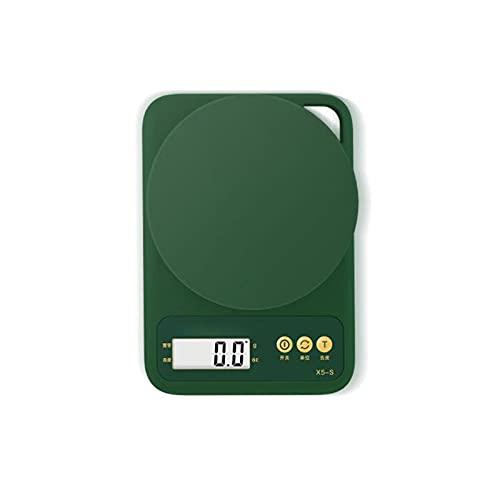 Wzdszuilcfc Cocina de Escala Digital Medidas de Escala multifunción, adecuadas para Cocina, Color: Verde, tamaño: 13cm * 10cm, 1 PCS