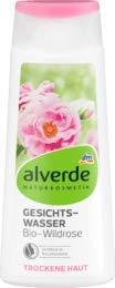 alverde NATURKOSMETIK Gesichtswasser Bio-Wildrose, 1 x 200 ml