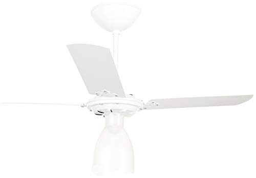 Venti-Delta Ventilador de Teto New Light 3 Pás Laqueadas 220 V C3V, 383252, 130 W, Branco