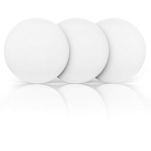 "Door Stopper Wall Protector 3.15"" (3 PCS) with Strong 3M Adhesive - Quiet and Shock Absorbent Silicone Wall Protectors from Door Knobs - Larger Door Bumper to Protect Every Wall Surface"