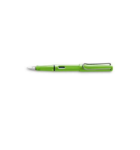 Lamy, 1230634 Safari, Penna stilografica a punta media, colore verde