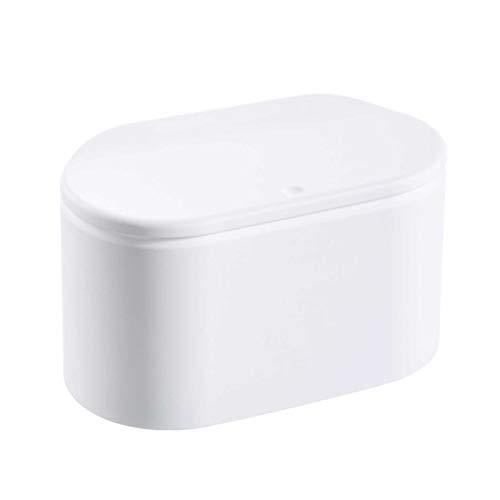 Kleiner Tisch Mülleimer, Mini Mülleimer Kosmetischer Abfallbehälter Tischabfalleimer Für Büro Und Schminktisch, Schreibtisch Papierkorb Für Küche Bad Büro Aufbewahrungskörbe Für Kleinkin (Weiß)