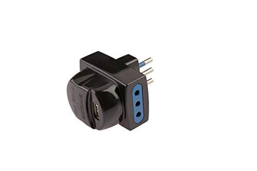Poly Pool PP0463.1 Adattatore Multiplo con USB, 10 a, Nero