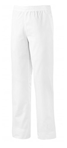 BP 1672-750-21-3XLl Unisex-Hose, mit elastischer, verstellbarer Taille, 250,00 g/m² Verstärkte Baumwolle, weiß, 3XLl