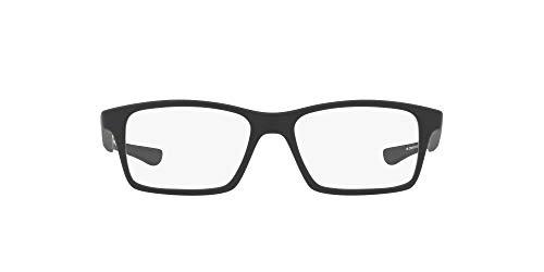 Oakley Youth Monturas para gafas graduadas cuadradas Oy8001 Shifter Xs para hombre, negro satinado/demo lente, 50 mm