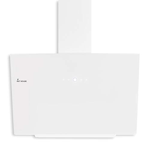 KKT KOLBE Kopffreie Dunstabzugshaube/Wandhaube / 60cm / Edelstahl/Weißes Glas / 4 Stufen/LED-Beleuchtung/TouchSelect Sensortasten/Nachlaufautomatik / TRIO6014W