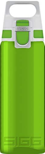 SIGG Total Color Green Trinkflasche (0.6 L), schadstofffreie und auslaufsichere Trinkflasche, leichte und bruchfeste Trinkflasche aus Tritan