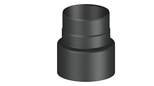 Overgangsset voor rookpijp – vermindering van grotere tot kleinere diameter; met steekverbindingen; zwart of grijs. Reduzierung Ø 180 auf Ø 150 mm zwart